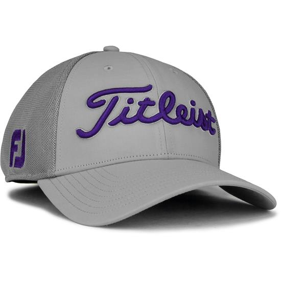 30a91ae21c8a2 Titleist Men s Tour Sports Mesh Golf Hat - Grey-Purple - Large X ...
