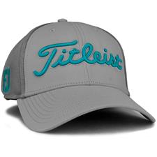 Titleist Men's Tour Sports Mesh Golf Hat - Grey-Teal  - Medium/Large