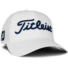 Titleist Men's Tour Sports Mesh Golf Hat - White-Navy - Medium/Large
