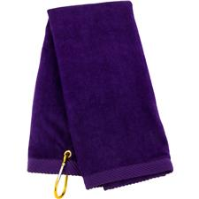 Tri-Fold Personalized Golf Towel - Purple
