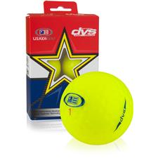 U.S. Kids DVS Yellow Golf Balls - 6 Pack