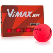 Volvik VIMAX Soft Matte Red Golf Balls