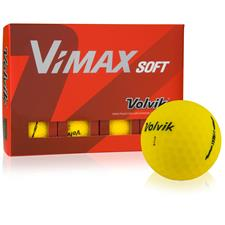 Volvik VIMAX Soft Matte Yellow Golf Balls