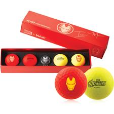 Volvik Vivid Golf Ball Gift Set - Marvel Iron Man - Red and Yellow