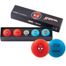 Volvik Vivid Golf Ball Gift Set - Marvel Spider Man