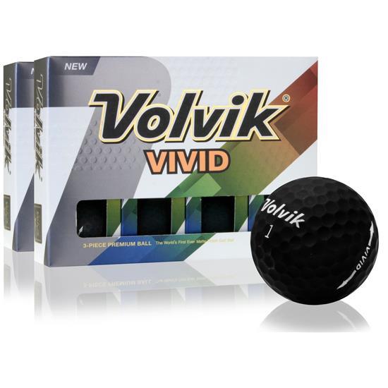 Volvik Vivid Matte Black Double Dozen Golf Balls