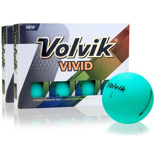 Volvik Vivid Matte Jade Double Dozen Golf Balls