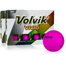 Volvik Vivid Matte Purple Double Dozen Golf Balls