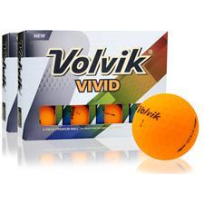 Volvik Vivid Matte Sherbet Orange Double Dozen Balls