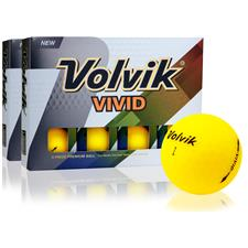 Volvik Vivid Matte Yellow Double Dozen Golf Balls