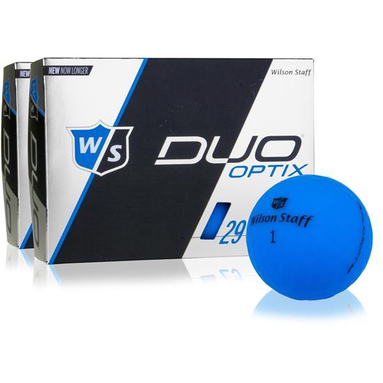 Wilson Staff Duo Soft Optix Matte Blue Golf Balls - 2 Dozen