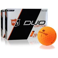 Wilson Staff Duo Soft Optix Matte Orange Golf Balls - 2 Dozen