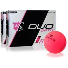 Wilson Staff Duo Soft Optix Matte Pink Golf Balls - 2 Dozen
