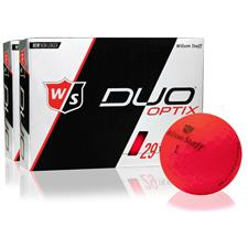 Wilson Staff Duo Soft Optix Matte Red Golf Balls - 2 Dozen