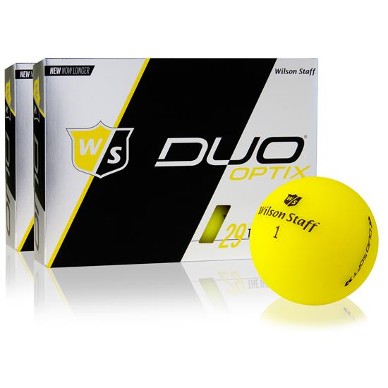 Wilson Staff Duo Soft Optix Matte Yellow Golf Ball - 2 Dozen