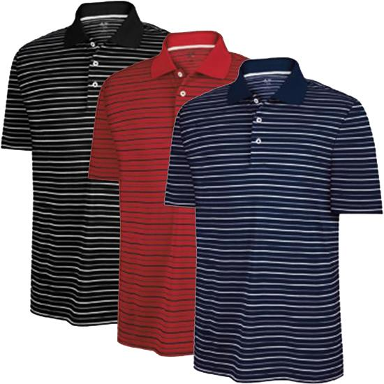 Adidas Men's Custom Logo ClimaLite Stripe Polo