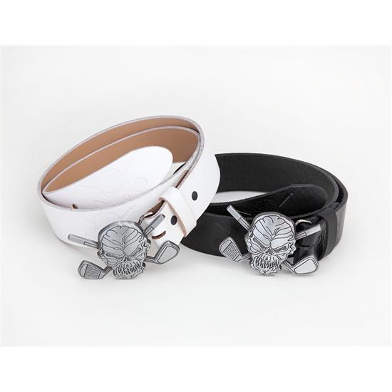 Tattoo Golf Skull Belt & Buckle Combo