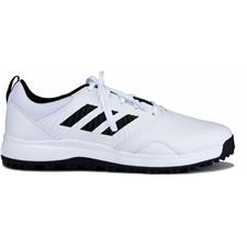 Adidas Cloud White-Core Black-Grey CP Traxion Spikeless Golf Shoes