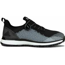 Adidas Core Black-Cloud White-Hi Res Yellow Forgefiber BOA Golf Shoes