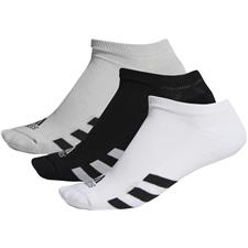 Adidas Men's No-Show Socks - 3 Pair Pack  - Black-Grey Two-White - Size 7-10.5