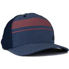 Adidas Men's Striped Trucker Golf Hat - Navy Heather