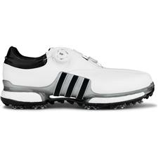 Adidas White-Silver Metallic-Core Black Tour360 Eqt BOA Golf Shoes