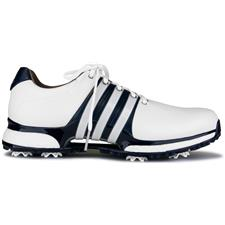 Adidas Cloud White-Collegiate Navy-Silver Metallic Tour360 XT Golf Shoes
