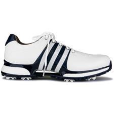 Adidas Cloud White-Collegiate Navy-Silver Metallic Tour360 XT Golf Shoes