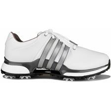 Adidas Cloud White-Silver Metallic-Dark Silver Metallic Tour360 XT Golf Shoes