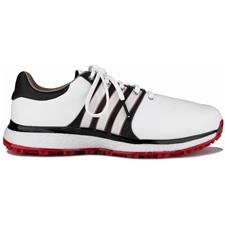 Adidas Cloud White-Core Black-Scarlet Tour360 XT Spikeless Golf Shoes
