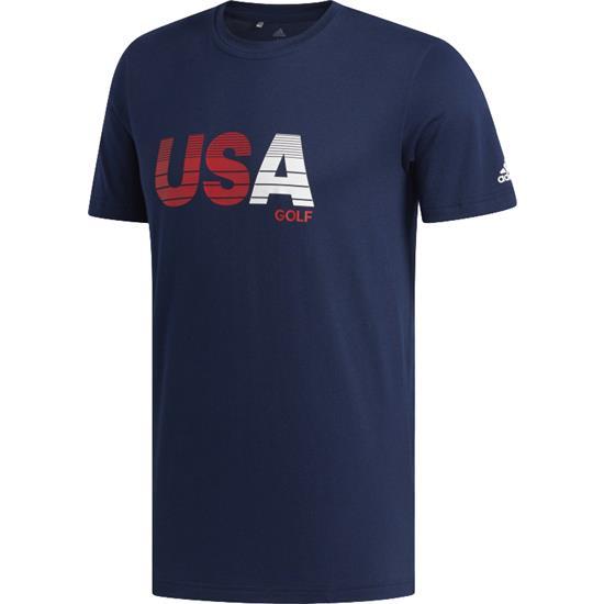 Adidas Men's USA Gradient Bold Print T-Shirt