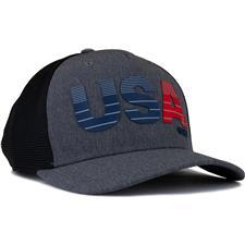 Adidas Men's USA Trucker Hat - Black-Grey Three