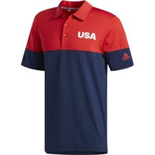 Adidas Collegiate Red-Collegiate Navy USA Ultimate 2.0 All Day Novelty Polo