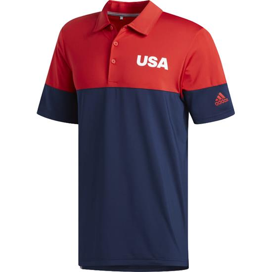 Adidas Men's USA Ultimate 2.0 All Day Novelty Polo