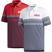 Adidas Medium USA Ultimate Bold Stripe Polo