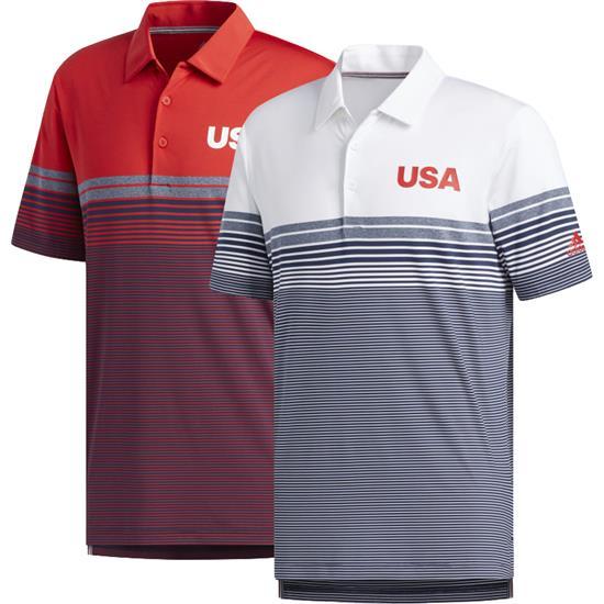 Adidas Men's USA Ultimate Bold Stripe Polo