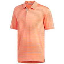Adidas Hi-Res Coral-Grey Two Ultimate 2.0 Stripe Polo