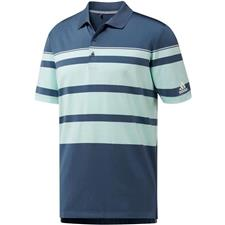 Adidas Tech Ink-Clear Mint-White Ultimate 365 Engineered Stripe Polo