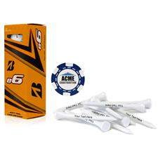 Bridgestone Custom Logo E6, Blue Chip Marker and Tee Kit
