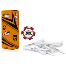 Bridgestone Custom Logo e6, Red Chip Marker and Tee Kit