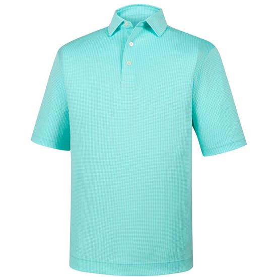 FootJoy Men's Diamond Jacquard Self Collar Polo