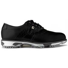 FootJoy Black-Black Croc Print DryJoys Tour Golf Shoes