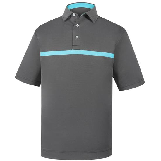 FootJoy Men's Engineered Nailhead Jacquard Self Collar Polo