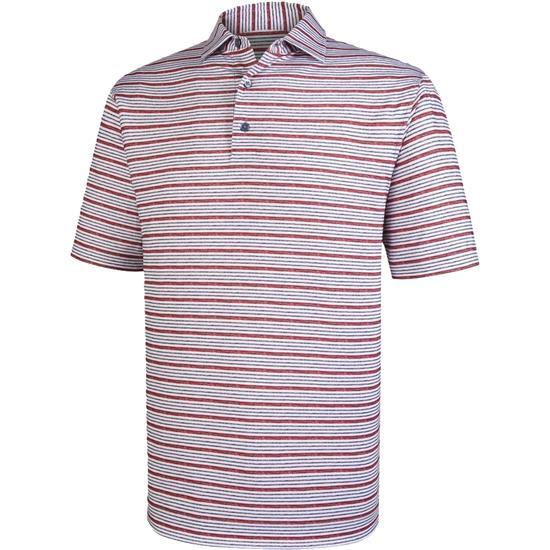 FootJoy Men's Lisle Space Dye Stripe Self Collar Polo