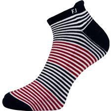 FootJoy Men's ProDry Roll Tab Striped Socks - Red-White-Blue
