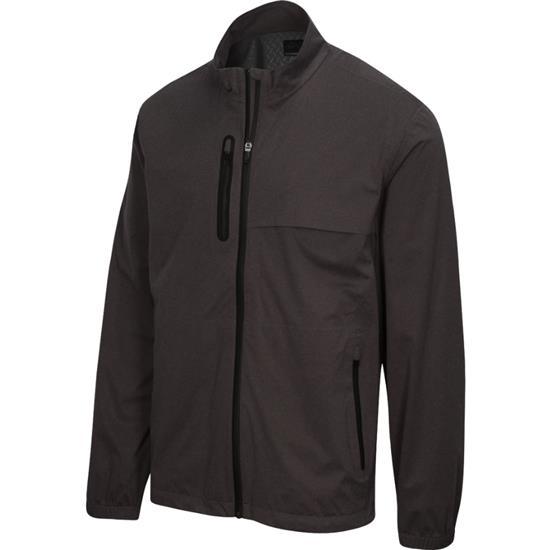 Greg Norman Men's Long Sleeve Full Zip Heathered Weatherknit Jacket