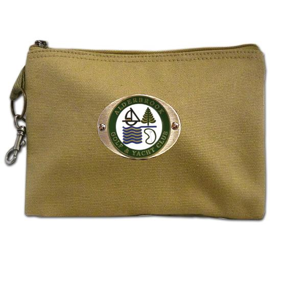 Logo Golf Canvas Zippered Valuables Pouch