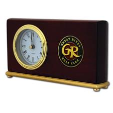 Logo Golf Horizontal Piano Wood Desk Clock