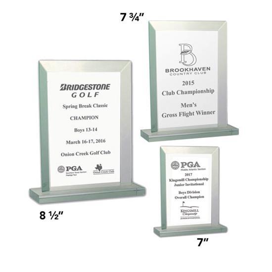 Logo Golf Jade Glass Award