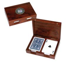 Logo Golf Rosewood Playing Card Case